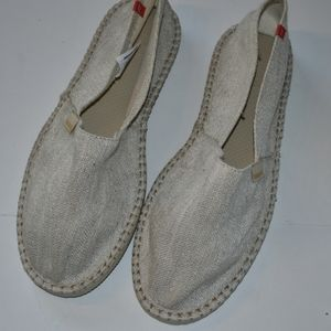 Havaianas slipons mules sandals off white like new